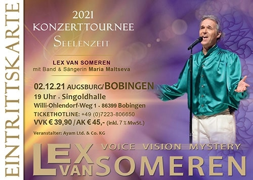 02.12.2021 Augsburg/Bobingen - Concert ticket Lex van Someren with Band and singer Maria Maltseva