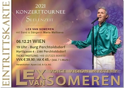 06.12.2021 Wien/Perchtoldsdorf/A - Concert ticket Lex van Someren with Band and singer Maria Maltseva