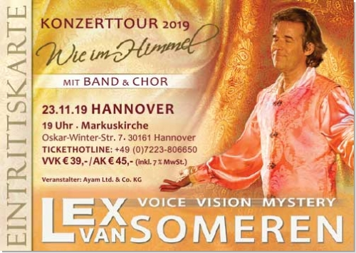 23.11.2019 Hannover - Konzert Ticket Lex van Someren, Band & Chor