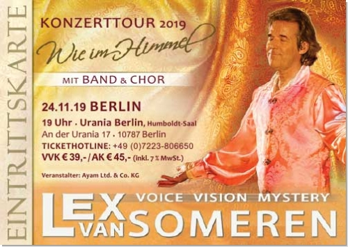 24.11.2019 Berlin - Konzertticket Lex van Someren, Band & Chor