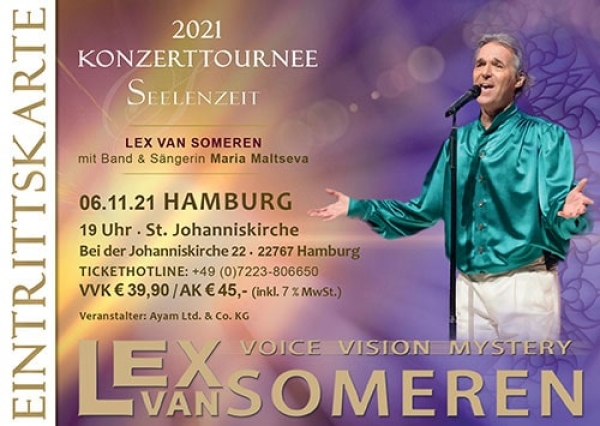 06.11.2021 -  Concert ticket Lex van Someren with Band and singer Maria Maltseva